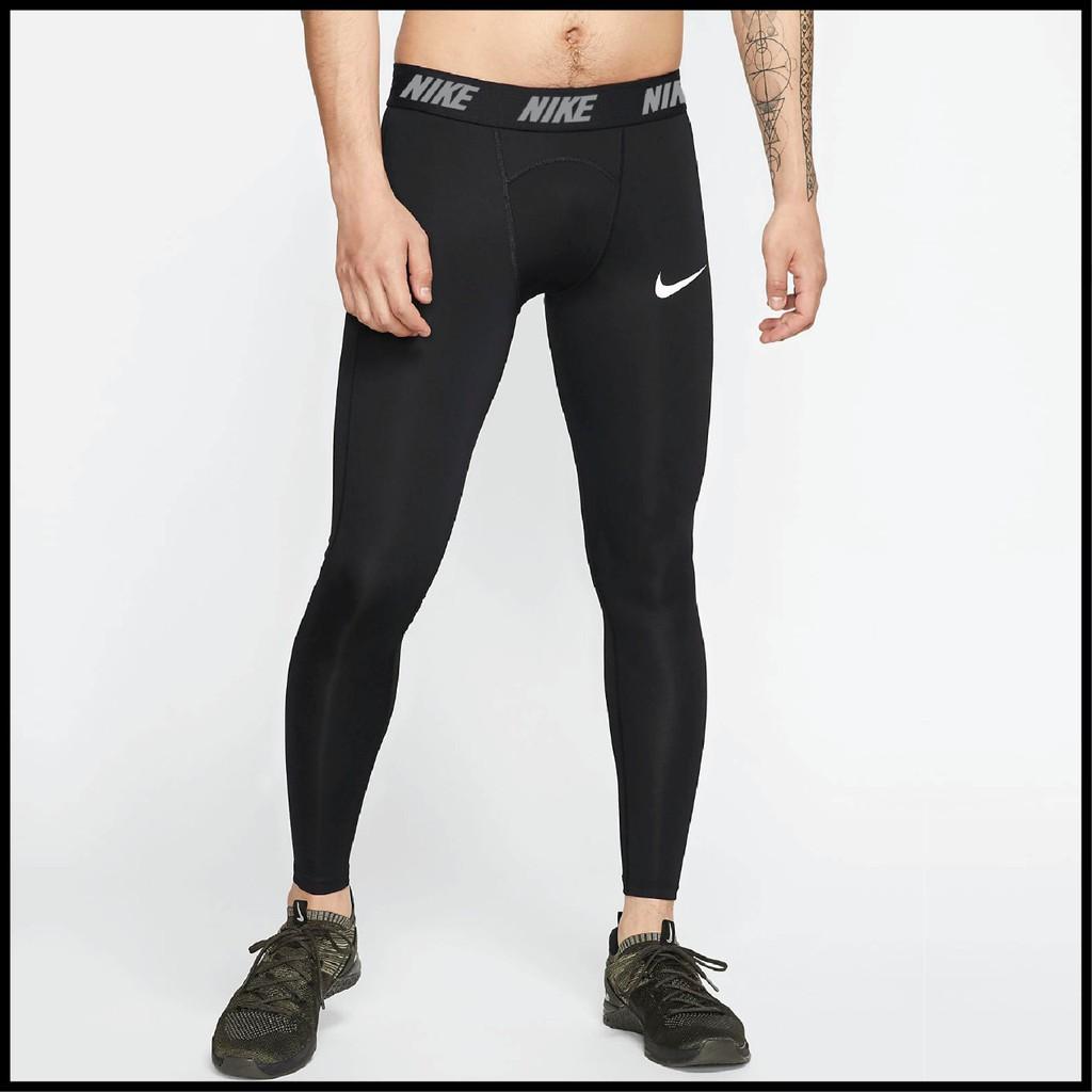 Celana Legging Pria Nike Legging Cowok Hitam Nike Pro Celana Training Shopee Indonesia