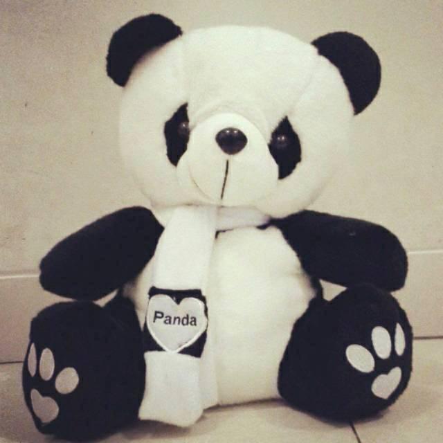 Boneka Panda Syal Shopee Indonesia