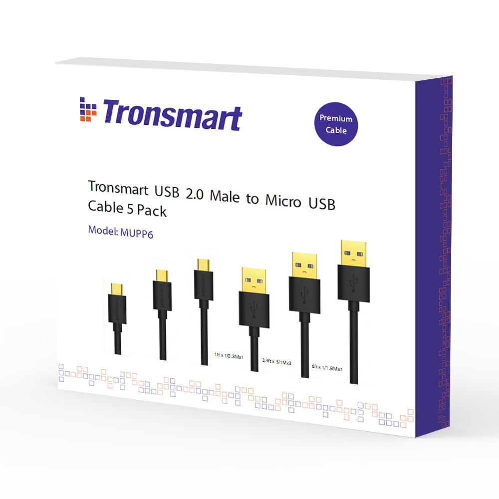 Tronsmart MUPP6 Premium USB Cables 5 Pcs Gold Plated 3 Size | Shopee Indonesia