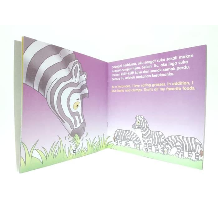 Buku Cerita Edukasi Seri Mengenal Hewan Zebra Anak Laki Perempuan