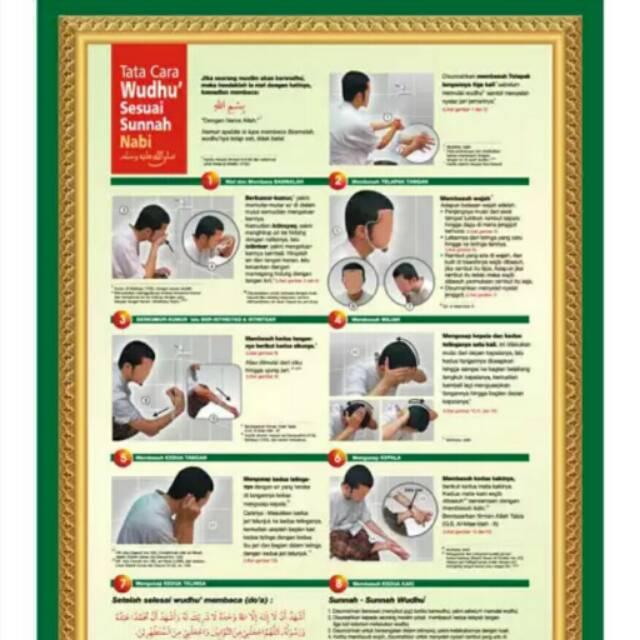 Poster Tata Cara Wudhu Sesuai Sunnah Nabi Shopee Indonesia