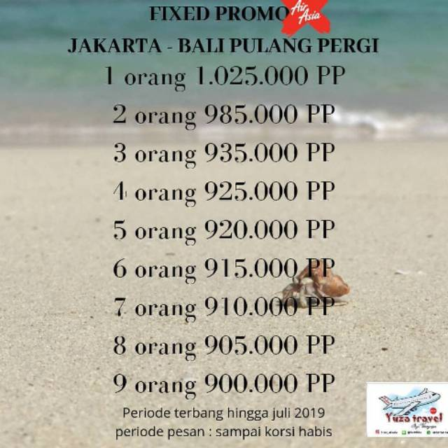 Promo Tiket Air Asia Jakarta Bali