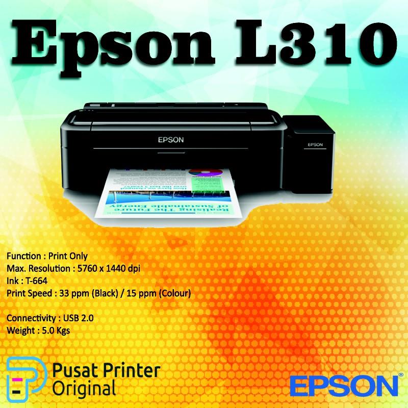 Printer Epson L310 Original Print Only Shopee Indonesia