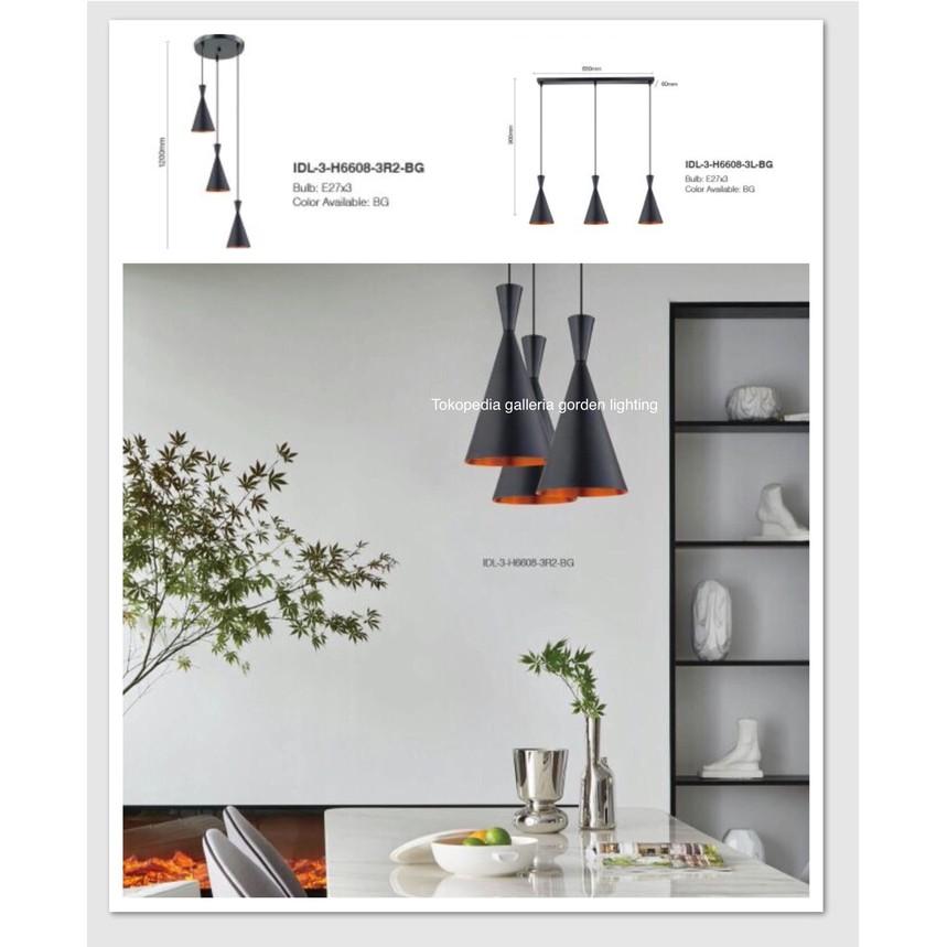 Termurah Lampu Hias Gantung Minimalis Dekorasi Meja Makan 6608 3