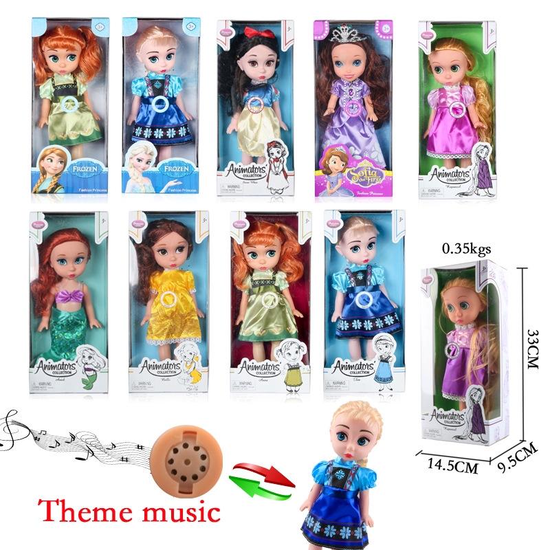 Mainan Boneka Baby Bayi Anna Elsa Rapunzel Snow White Belle Model Film Kartun Princess Untuk Anak Shopee Indonesia