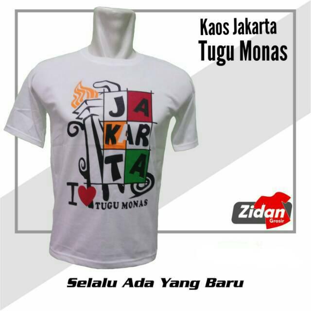 Kaosbaju Oleh Oleh Jakarta Monaskaos Tugu Monas Shopee Indonesia