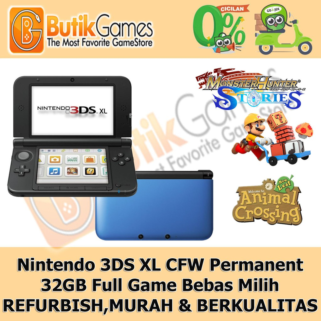 Pre Owned Nintendo 3ds Xl Ll Free 5 Games By Gopayless Shopee New Pink White Cfw Luma 16gb Indonesia