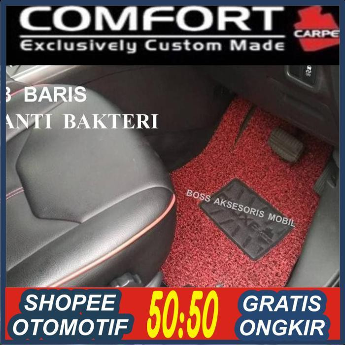 BOS AKSESORIS MOBIL/ Karpet Comfort Deluxe Xpander Livina 2019 Mobilio BRV Tanpa Bagasi