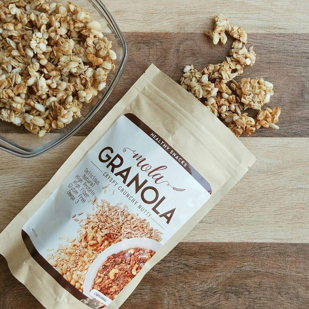 GRANOLA MOLA GRANOLA Camilan sehat dan enak untuk diet! MIX 4 pcs | Shopee Indonesia
