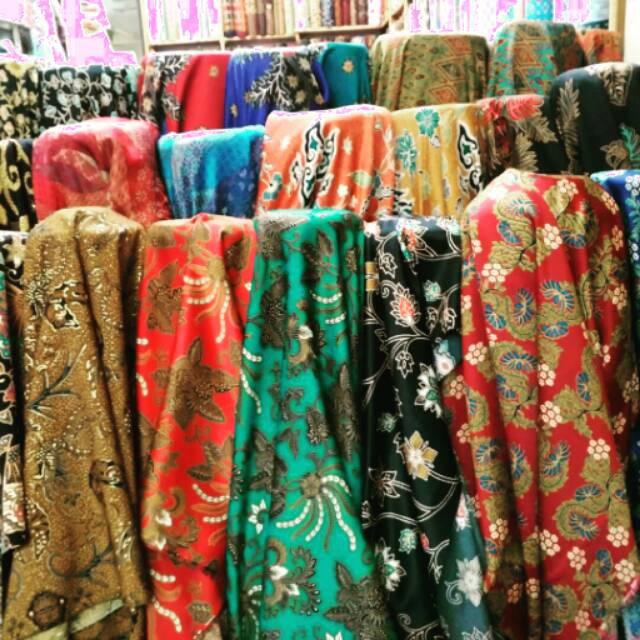 Kain Batik Silk Semi Sutra Bahan Baju Batik Shopee Indonesia