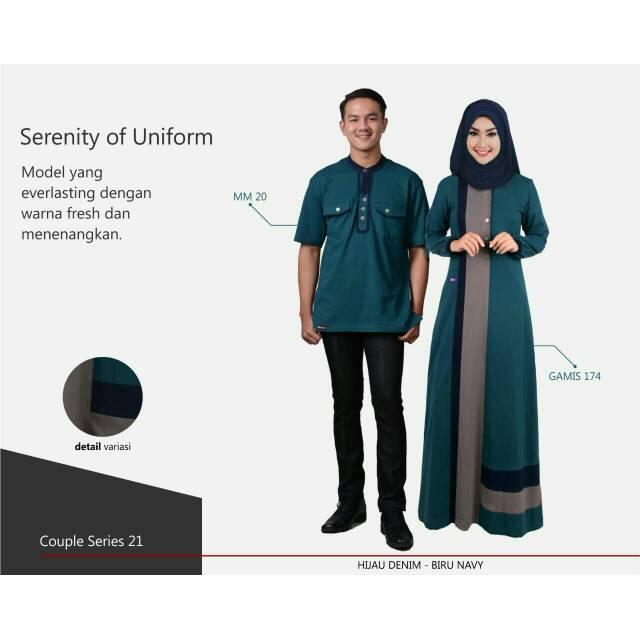 Busana Muslim Muslimah Mutif Couple Series 21 Shopee Indonesia