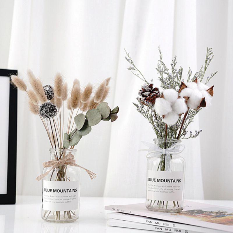 1 Buket Bunga Kering Botol Untuk Dekorasi Rumah Shopee Indonesia