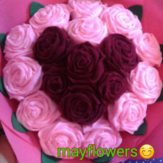 Bunga Love Buket Bunga Love Bunga Flanel Bunga Mawar Tangkai Shopee Indonesia