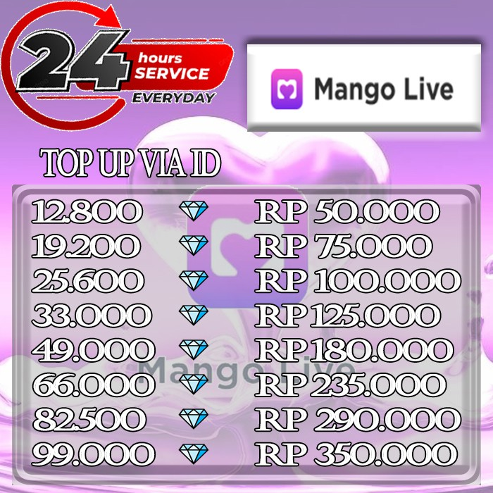 Mango Live - Diamond Mango Live - Top Up Diamond Mango Live