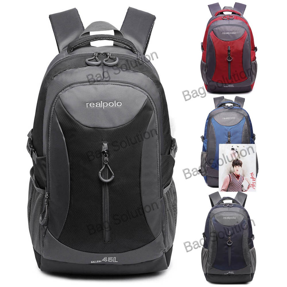 Tas Ransel Punggung Polos Jumbo Hitam Daftar Update Harga Terbaru Ts007 Polo Alfito Laptop Jual Pria Online Murah Real 6332 Free Bag Cover