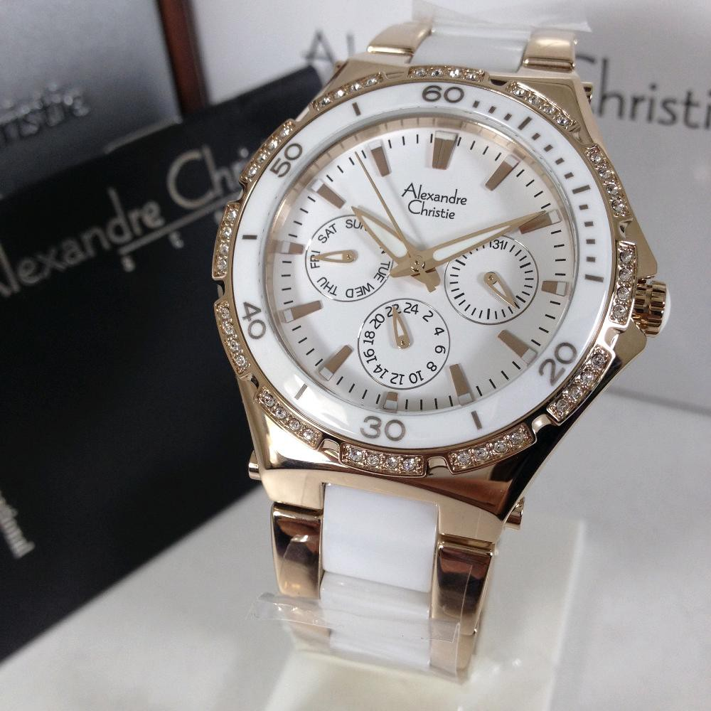 Harga Dan Spesifikasi Alexandre Christie Ac 2294 Bf Bcgsl Ladies 2438 White Rose Gold 2476 Nb Fbrgsl Dial Ceramic Case And Watch