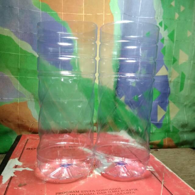 Botol Plastik Aqua Ukuran 600ml Wadah Pembesaran Ikan Cupang Shopee Indonesia