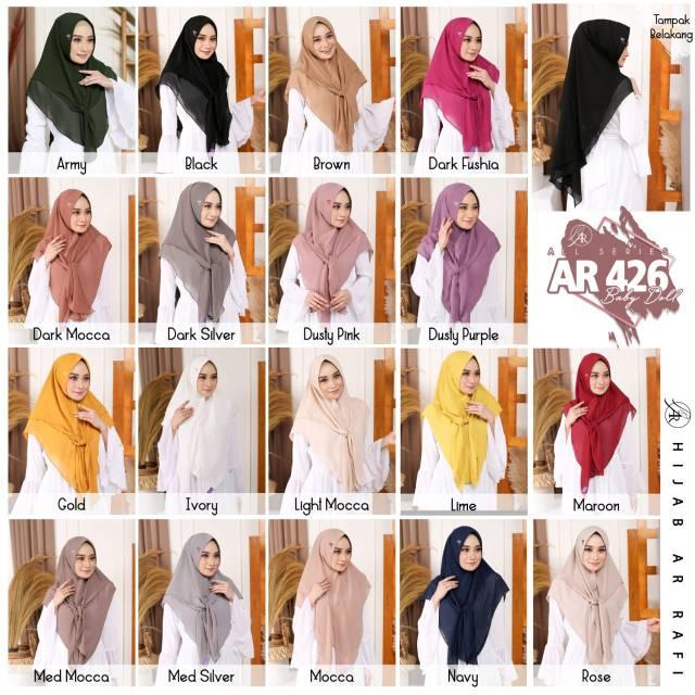 Jilbab Semi Pet Ar Rafi Kode Ar 426 Shopee Indonesia