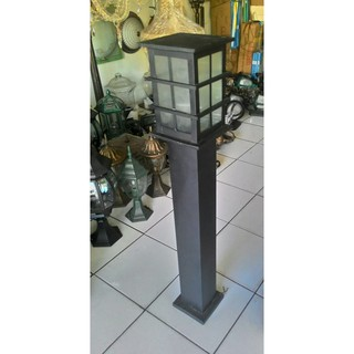 Unik Lampu Taman Minimalis Hitam Kotak Berkualitas Shopee