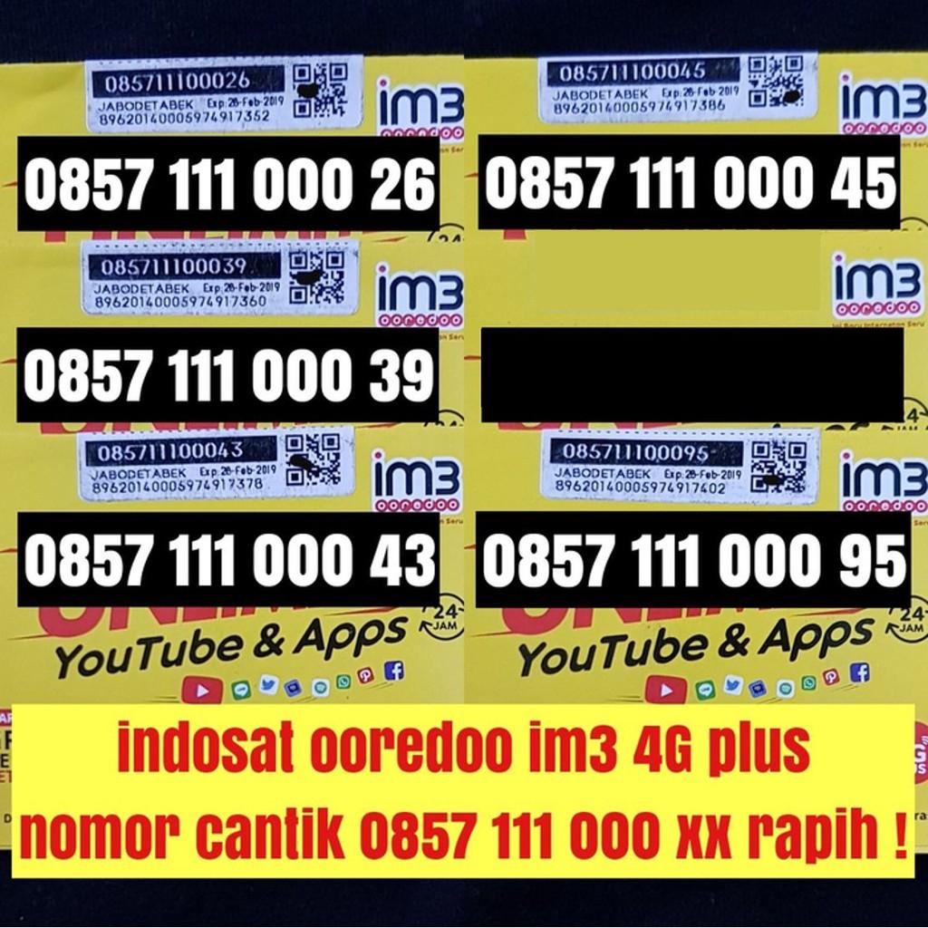 nomer cantik nomor 10 digit indosat ooredoo im3 4G plus kartu perdana   Shopee Indonesia