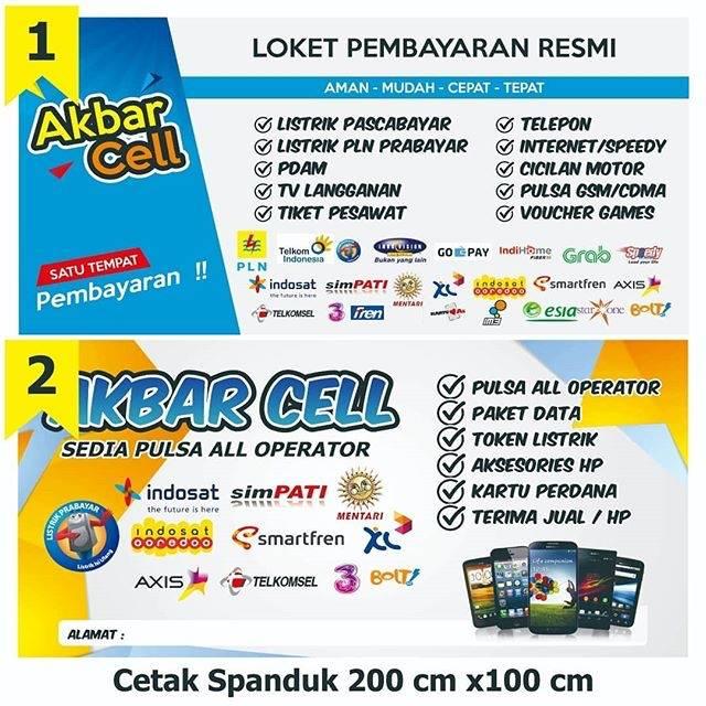 Spanduk Jual Pulsa Loket Pembayaran 200x100 Shopee Indonesia