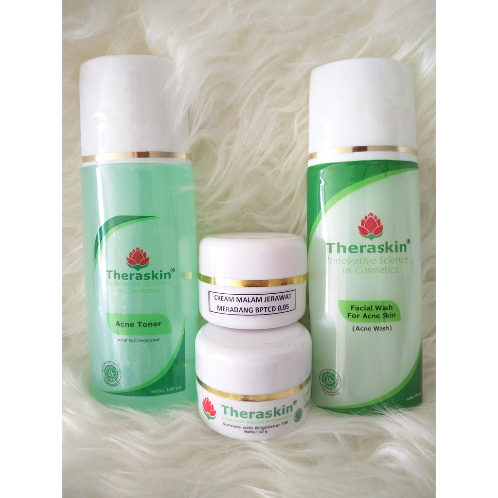 Theraskin Original Paket Acne Glowing Shopee Indonesia Oily