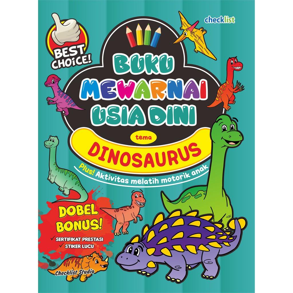 Buku Mewarnai Usia Dini Tema Dinosaurus