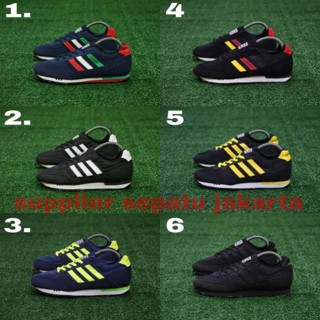 Sepatu sneakers lari adidas neo city racer running import