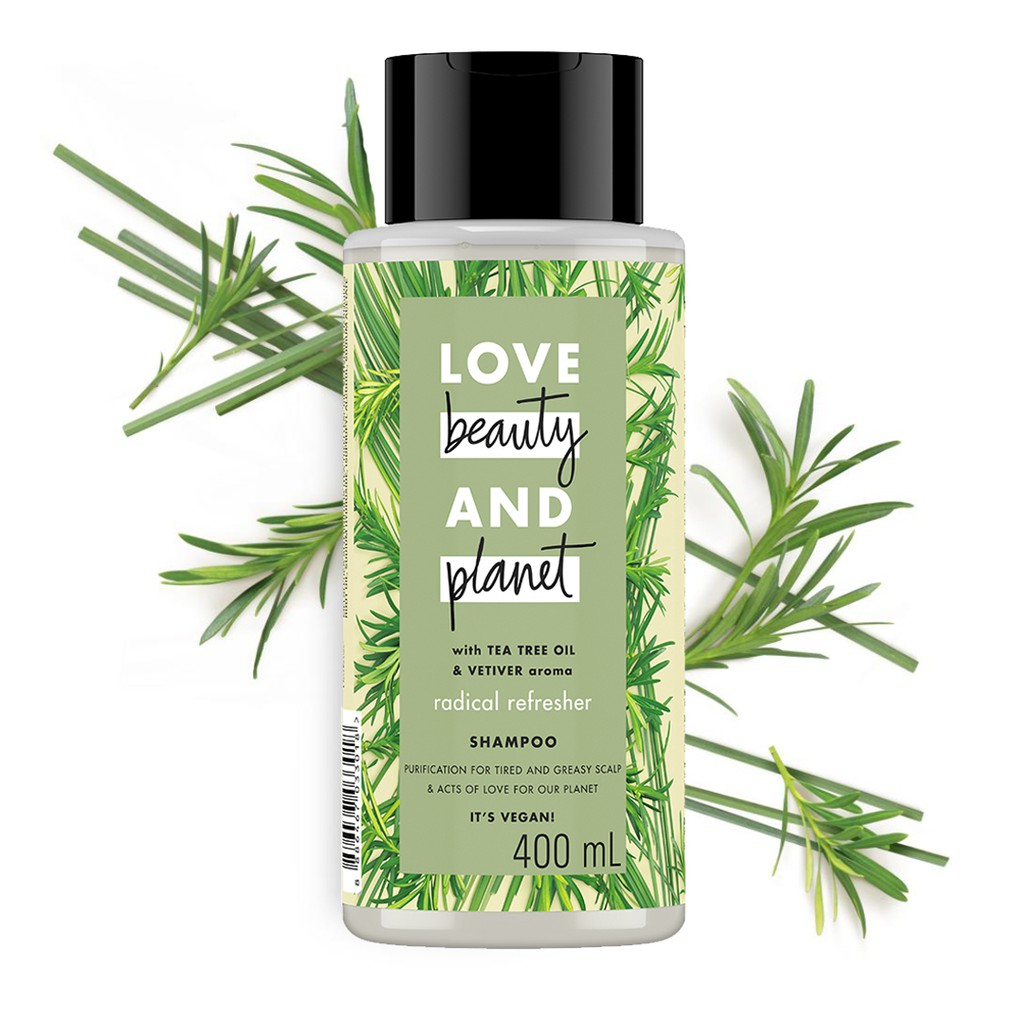 Love Beauty & Planet Radical Refresher, Tea Tree Oil & Vetiver Shampoo 400Ml-1