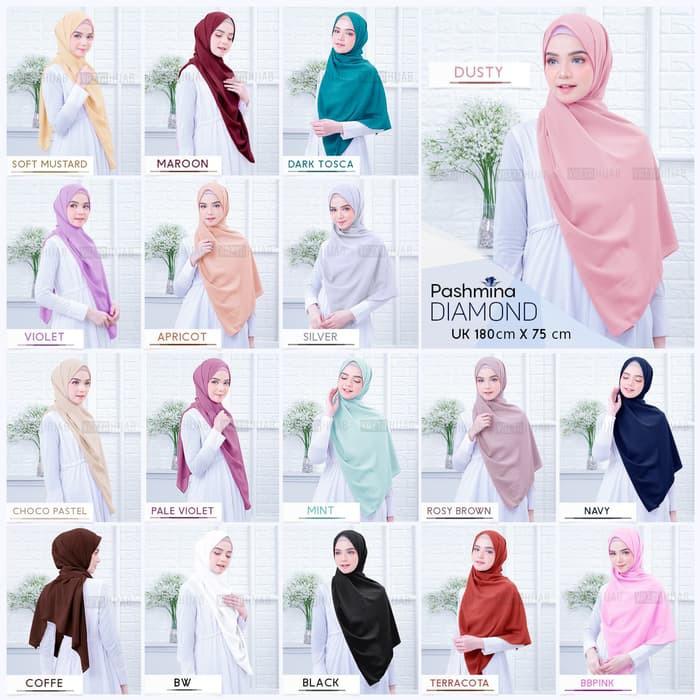 SP2503630704 Pashmina Diamond 180x75 cm by Vazya Hijab - Blanja.com