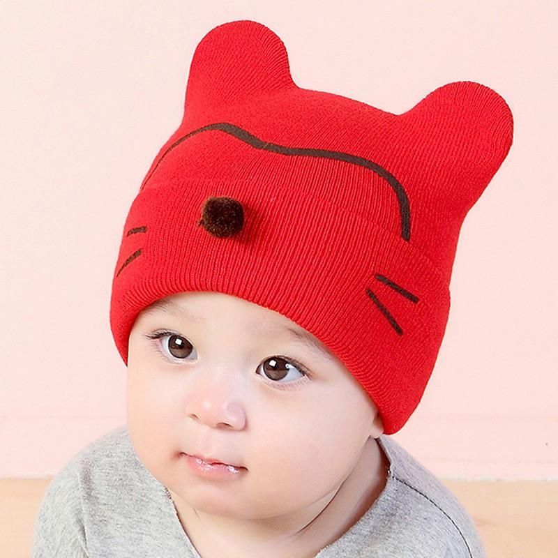 All Season Winter Warm Cotton Cute  Baby Beanie Teddy Bear Boys /& Girls Hat