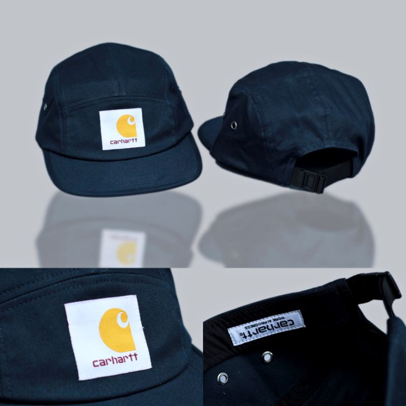 Topi 5 Panel Carhartt Wip Backley Navy Full Tag High Premium Quality