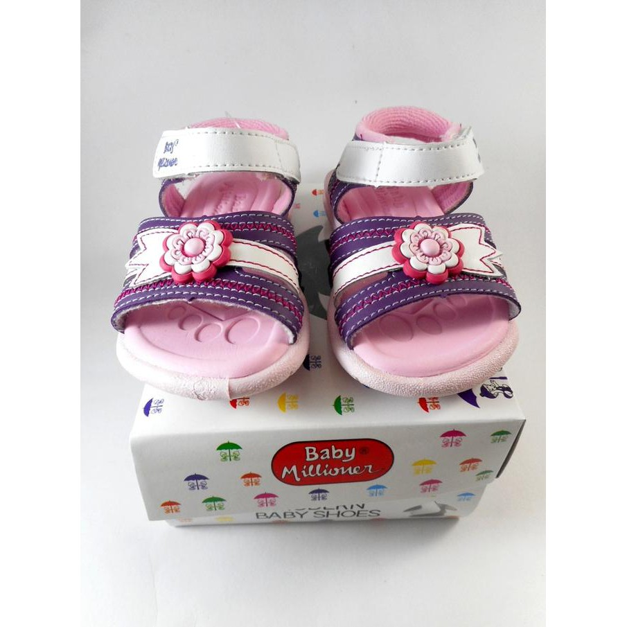 Sepatu Sandal Cowo Baby Millioner Shopee Indonesia Lustybunny Shoes Big Flower 22