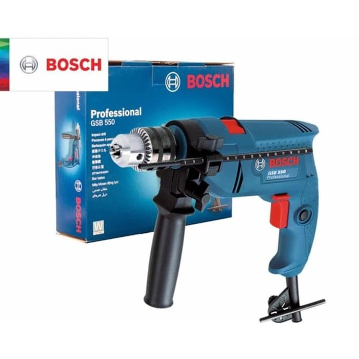 Mesin Bor Beton 13mm BOSCH GSB 550 atau Bor Tangan Listrik 13MM Original Bosch