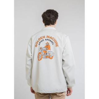 Erigo Coach Jacket Machine White