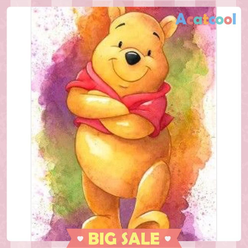 Diy Lukisan Diamond 5d Dengan Gambar Winnie The Pooh Dan Hiasan Berlian Buatan Shopee Indonesia