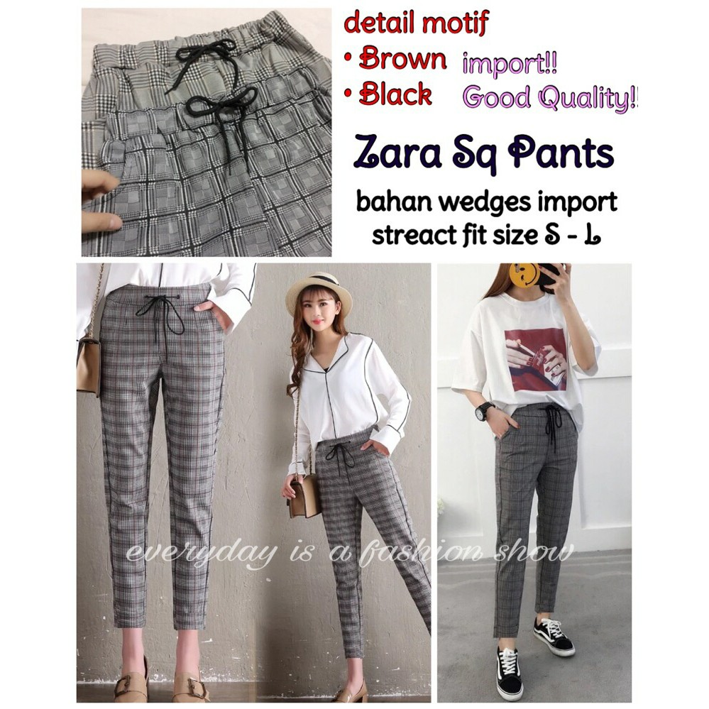 Color New Zara Square Pants Shopee Indonesia