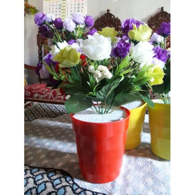 Bunga Hias Mawar Bunga Hias Di Atas Meja Bunga Artivicial Shopee Indonesia