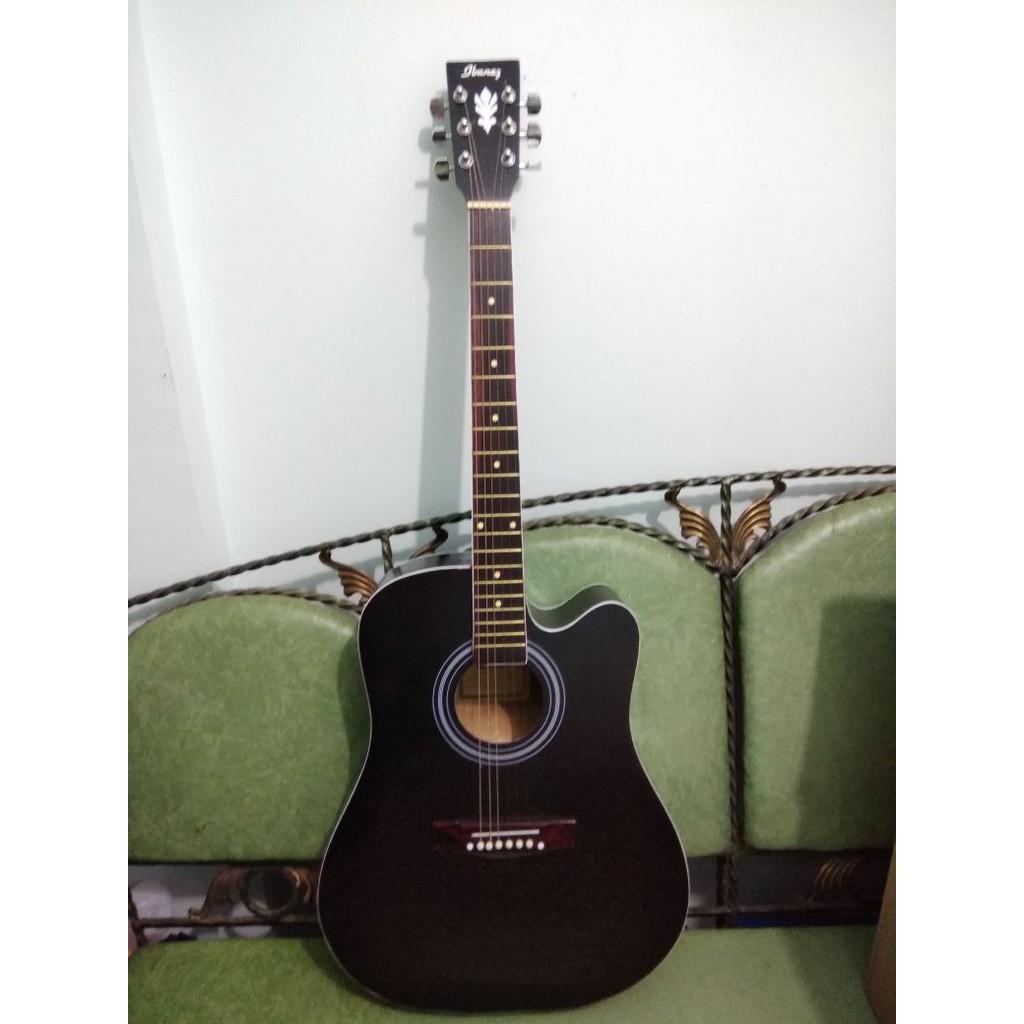 Gitar Akustik Jumbo Merk Yamaha Black Doff Trusrod Jakarta Murah