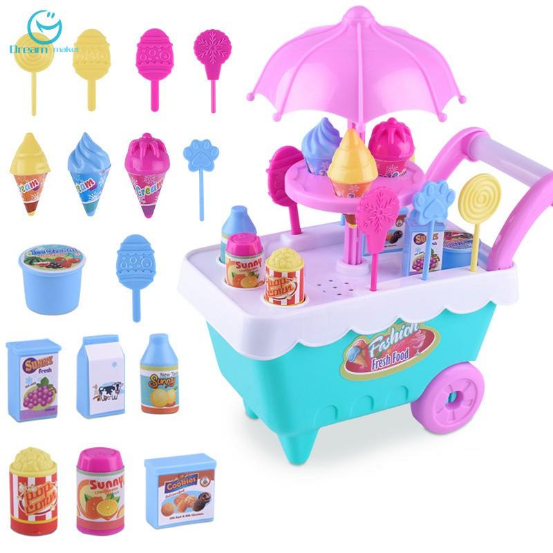 Mainan Gerobak Es Krim Untuk Anak Bermain Peran Shopee Indonesia
