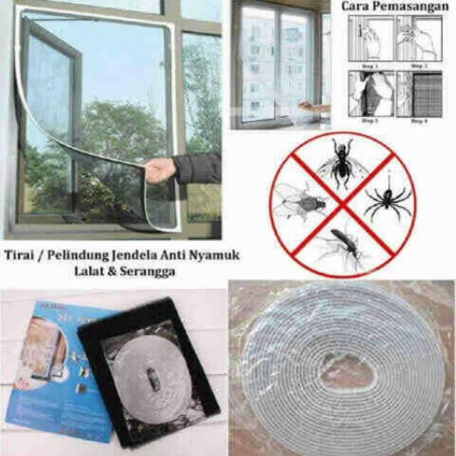 [CICAQGO] Tirai Jendela Pelindung Anti Nyamuk, Mosquito Lalat Serangga Mesh Cover   Shopee Indonesia