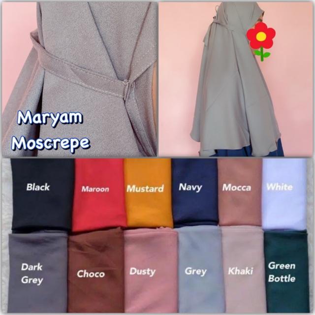 Bergo Maryam Bahan Moscrepe Shopee Indonesia