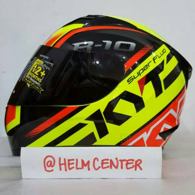 HELM DEWASA RACING FULL FACE KYT R10 SUPER FLUO