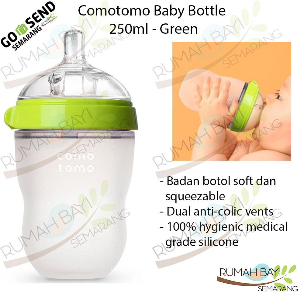 Comotomo Baby Bottle Single Pack 250ml - Botol Susu Bayi