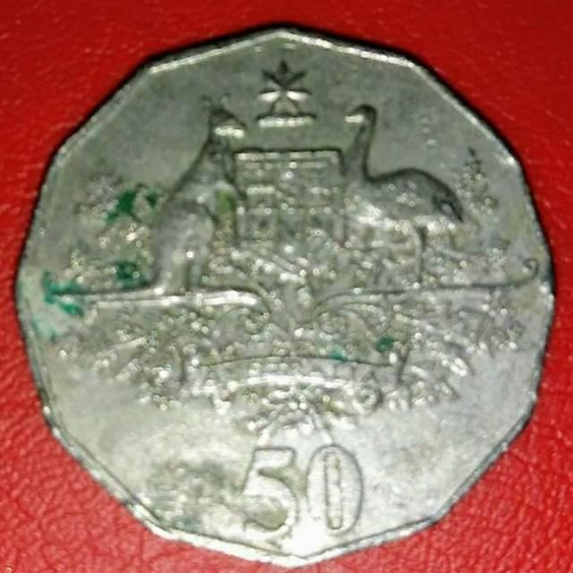 2001 Koin Australia 50 cents Peringatan