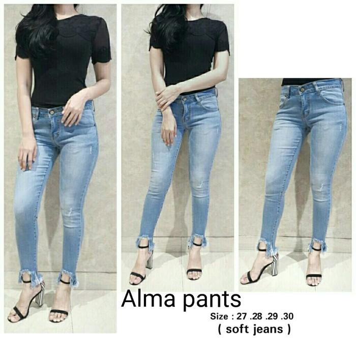 Celana Jegging Pants Wanita Strech Jeans Legging Super Strech G4271 | Shopee Indonesia