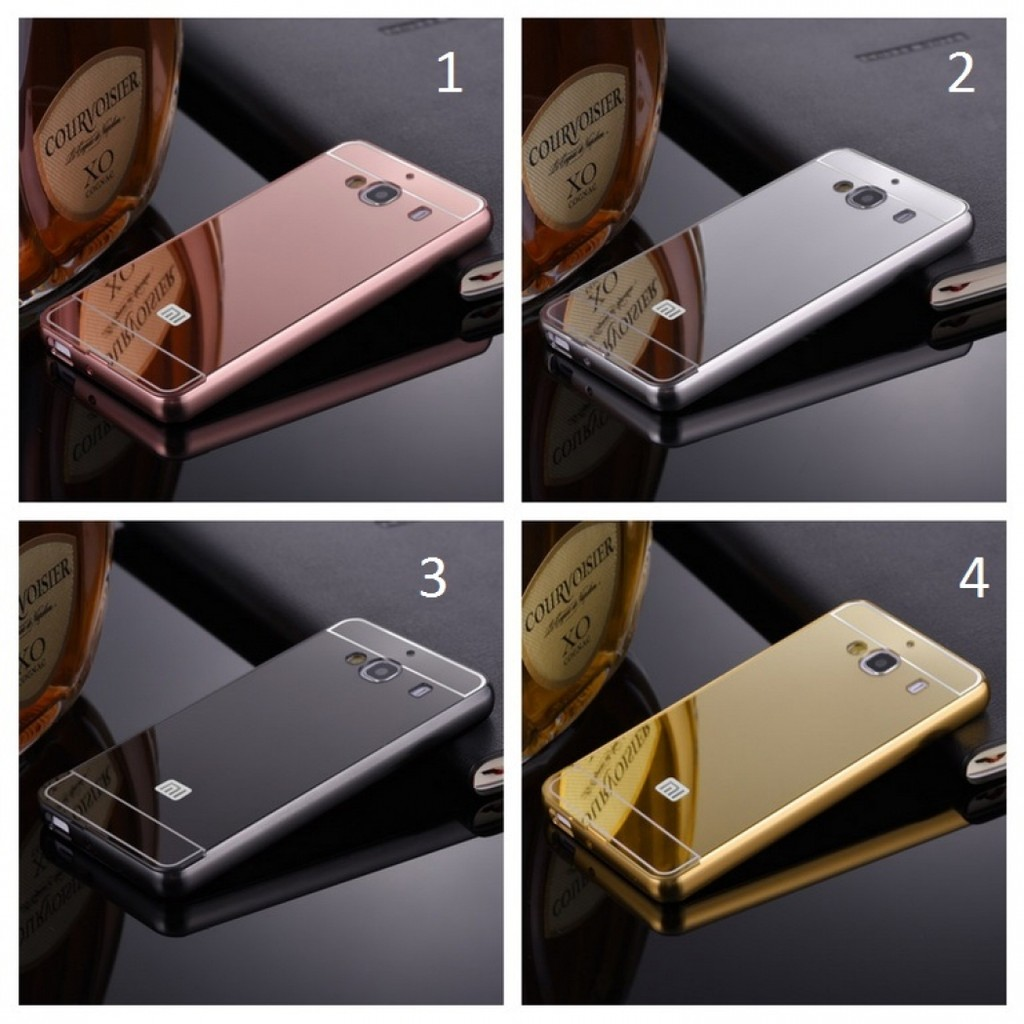 differently 1be85 b3cb1 Bumper Mirror Xiaomi Redmi 2 2S Backcase Hardcase Casing Slide Case  alumunium Metal