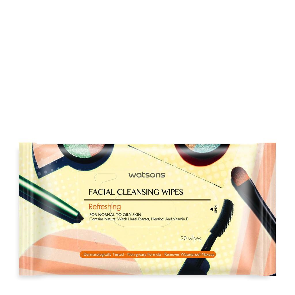Watsons Facial Cleansing Wipes Gentle 20s Shopee Indonesia Ovale Micellar Water Brightening 200ml Khusus Area Pulau Jawa