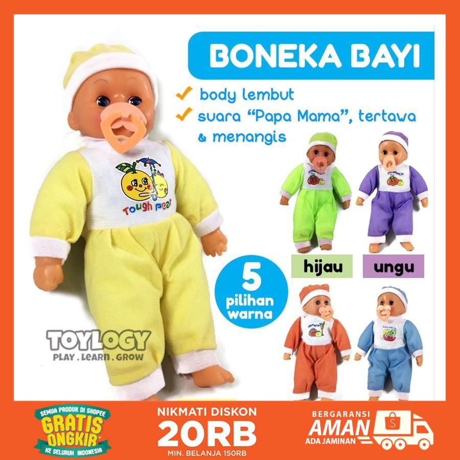 Jual Mainan Anak Perempuan Boneka Bayi Baby Sleep Doll Suara Papa Mama Menangis Tertawa Berkualitas