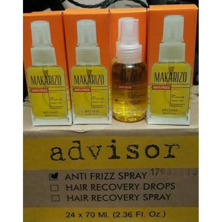 Ready Makarizo Advisor Anti Frizz Spray 70Ml Serum Perawatan Rambut Berkualitas | Shopee Indonesia